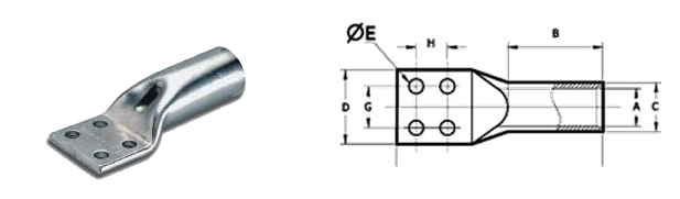 Four Hole Cable Lugs